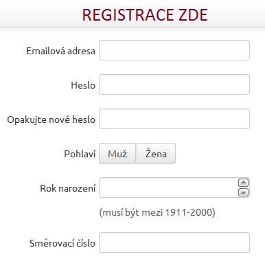 registrace do programu